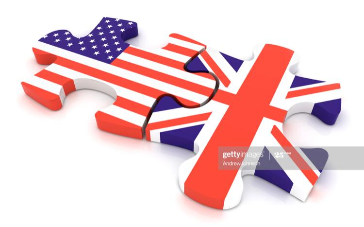 イギリスとアメリカの国旗パズル