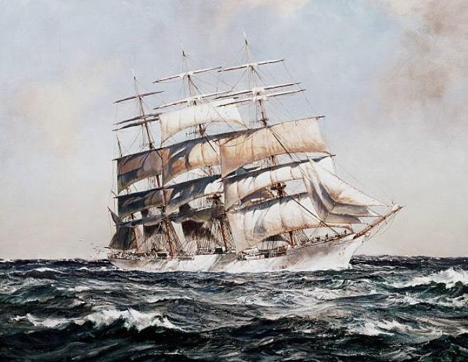 来日船の絵