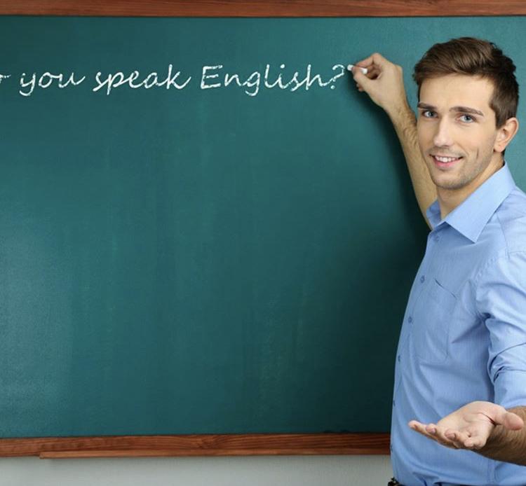英語の授業と男性